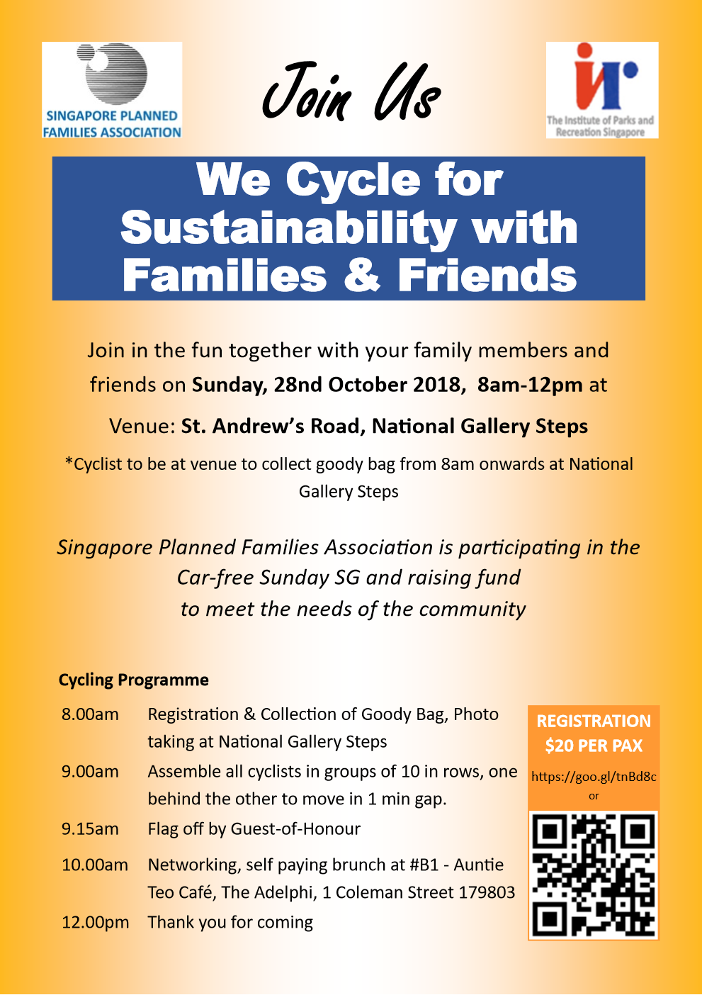 We Cycle for Sustainability with Families & Friends - Giving sg